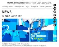 Bild Webseite mwimmerdesign München