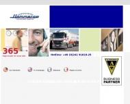 Bild Webseite Europaverkehre Hammer Aachen