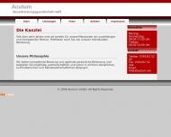 Bild Webseite ACUTUM Steuerberatungsgesellschaft Magdeburg
