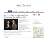 Bild Webseite Rechtsanwaltskanzlei Altun Terhechte Berlin
