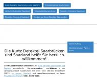 Website Kurtz Detektei Saarbrücken und Saarland