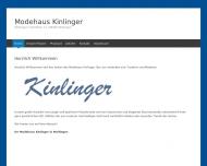 Bild Webseite Kinlinger Textil- und Bekleidungshaus Meitingen