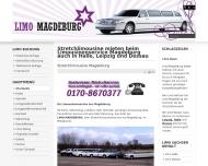 Website Limousinenservice Magdeburg