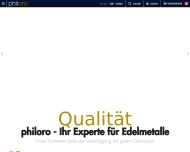 Website philoro Edelmetalle