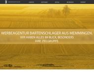 Website Werbeagentur Bartenschlager