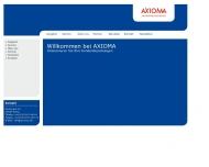 Bild Webseite Axioma Unternehmensberatung Berlin