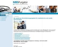 Bild Webseite MBS Purgator Management, Beratung  und Service Berlin