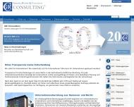 Bild Webseite Gördes, Rhöse & Collegen Unternehmensberatung Berlin