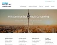 Bild Webseite Drozak Consulting Berlin