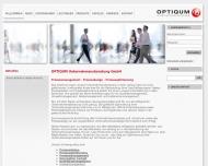 Bild Webseite OPTIQUM Unternehmensberatung Köln