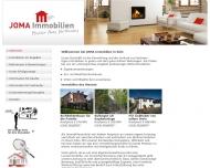 Bild Webseite JOMA Immobilien Köln