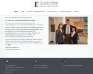 Bild Webseite Kortmann Unternehmensberatung Köln