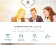Bild Webseite Wiegershaus Köln