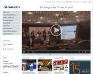 Bild Webseite cometis Frankfurt