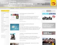 Bild Webseite Fachverband Elektro- und Informationstechnik Baden-Württemberg Stuttgart