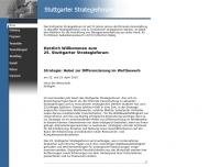 Bild Webseite IFUA Unternehmensberatung für Strategisches Management Stuttgart