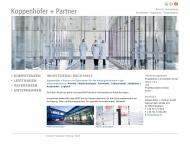 Bild Webseite Koppenhöfer + Partner Stuttgart