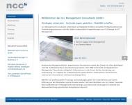 Bild Webseite ncc Management Consultants München