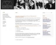 Bild Webseite Certina Management München