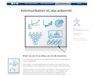 Website face Kommunikationsentwicklung