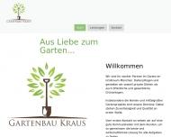 Bild Webseite Gartenbau Kraus München
