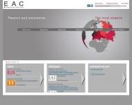 Bild Webseite EAC-Euro Asia Consulting München