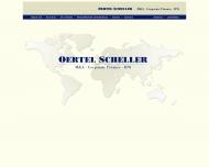 Bild Webseite Oertel Scheller München