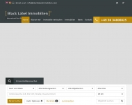 Website Black Label Immobilien