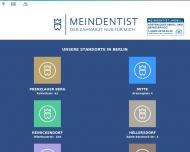 Bild Webseite MEINDENTIST-Praxis Prenzlauer Berg Berlin