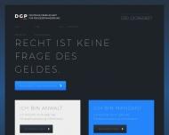 Bild Webseite DGP DEUTSCHE GESELLSCHAFT FÜR PROZESSFINANZIERUNG Berlin