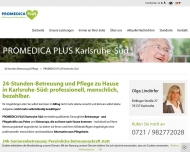 Website PROMEDICA PLUS Karlsruhe Süd