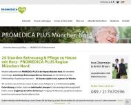 Website PROMEDICA PLUS Region München-Nord