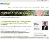Website PROMEDICA PLUS Ottobrunn