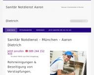 Website Sanitär Notdienst Aaron Dietrich München