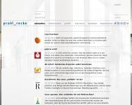 Bild Webseite Prahl Recke Gesellschaft für Marken- und Firmenprofile Düsseldorf