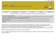 Bild Webseite Biehne. Visuelle Kommunikation Düsseldorf