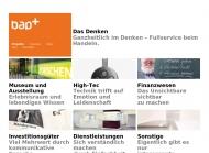 Bild Webseite bürger albrecht partner + agentur für kommunikation und design Wuppertal