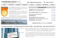 Website Immobilienbüro de Groot