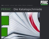 Bild Webseite PERAC medien & werbeagentur Köln