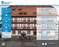Bild Webseite Adolf Christ Verlag Frankfurt