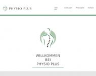 Bild Webseite Physio Plus Inden