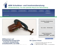 Website ADN Schuldner- und Insolvenzberatung g