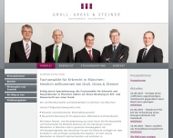 Website Kanzlei Groll, Gross & Steiner (