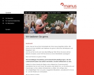 Bild Webseite manus Gastronomie München
