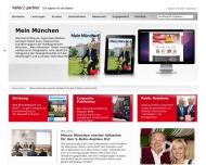 Bild Webseite Heller & Partner communication München