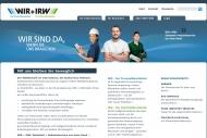 WIR + IRW WIR + IRW Zeitarbeit + Industrieservice aus einer Hand. 34mal in Deutschland