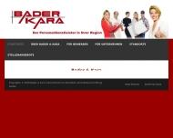 Bild Webseite Bader u. Kara Unternehmen für Zeitarbeit Nürnberg