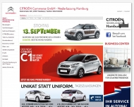 Bild Webseite CITROËN Commerce Hamburg