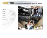 Bild Webseite Auto Thies Autohaus Hamburg