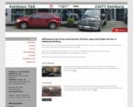 Bild Webseite Autohaus T&K Chrysler Jeep Inh. Torsten Aschenbrenner Zentrale - Ersatzteillager Hamburg